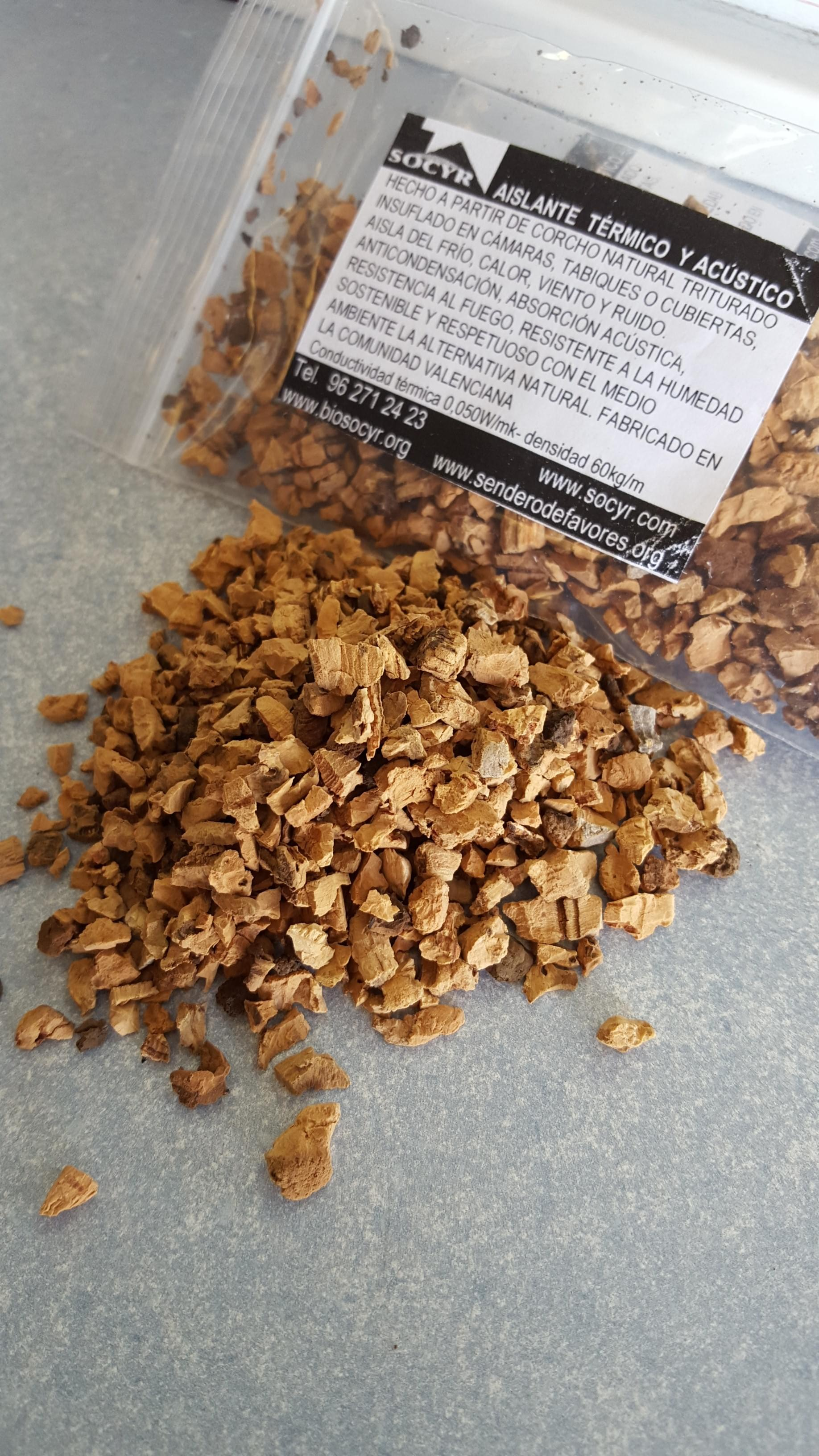 Aislamiento corcho granulado natural socyr - Aislante de corcho ...